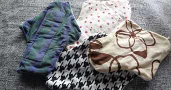 古着や布山から布ナプキンを作りました(リメイク&型紙ダウンロード)